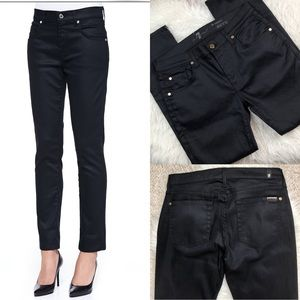 7 for all mankind slick relaxed skinny jeans black